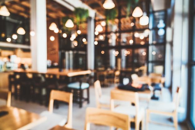 Borrão abstrato e restaurante café desfocado