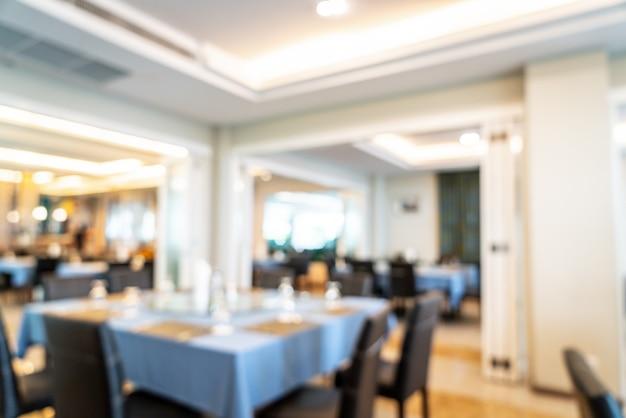Borrão abstrato e restaurante do hotel desfocado para plano de fundo