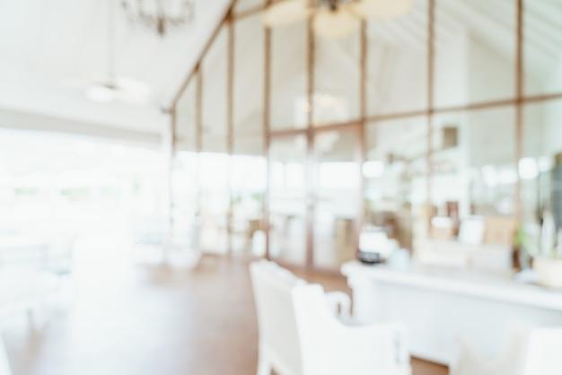 Borrão abstrato e restaurante do hotel desfocado