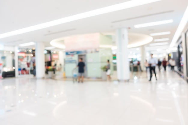 Borrão abstrato e shopping desfocado