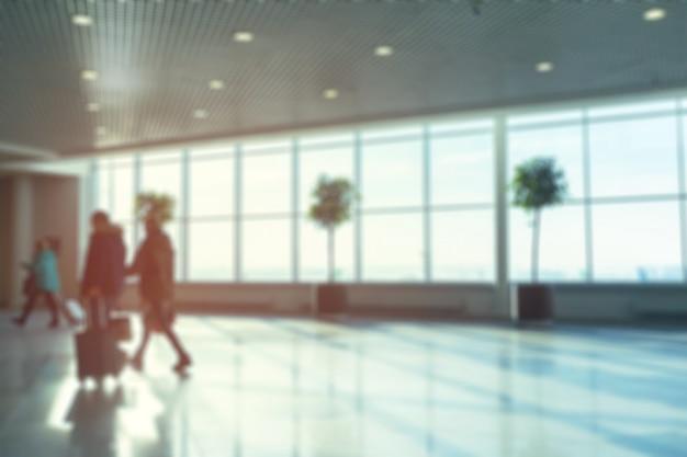 Borrão abstrato, filmado em aeroporto para plano de fundo