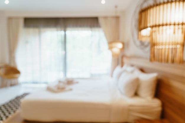 Borrão abstrato interior do quarto do hotel