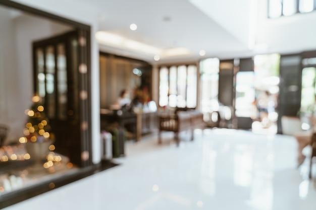 Borrão abstrato lobby hotel para plano de fundo