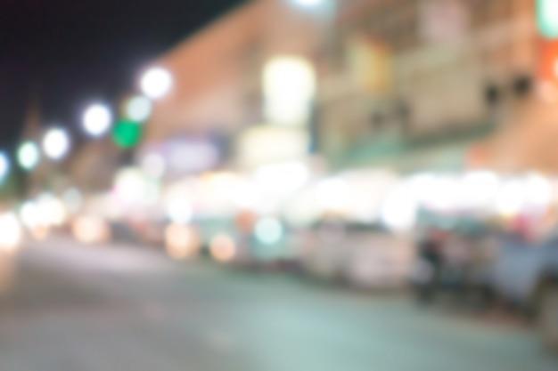 Borrão abstrato luzes de rua.