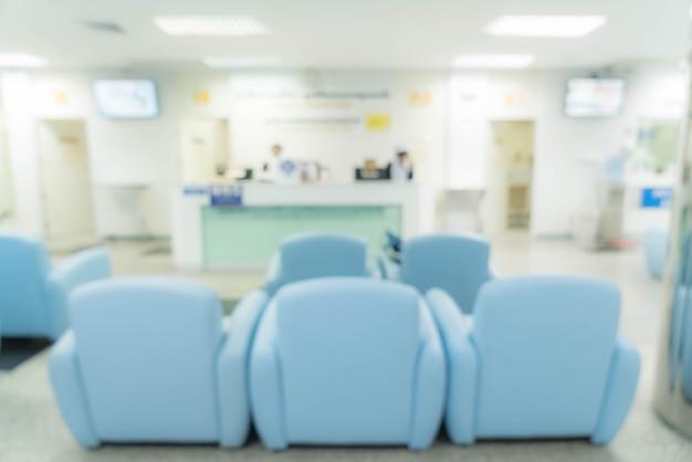 Borrão abstrato no hospital Foto gratuita