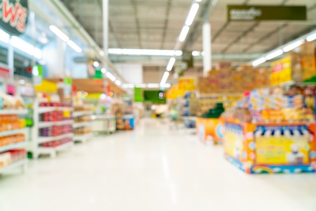 Borrão abstrato no supermercado