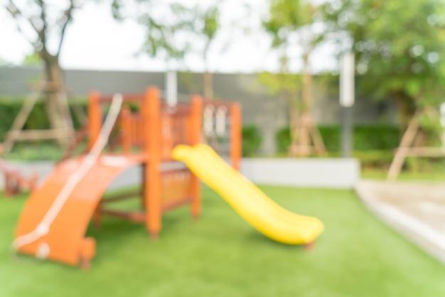 Borrão abstrato parque infantil de criança