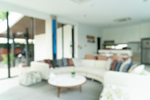 Borrão abstrato sala de estar para o fundo