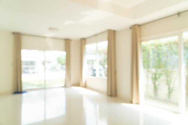 Borrão abstrato sala vazia em uma casa para o fundo