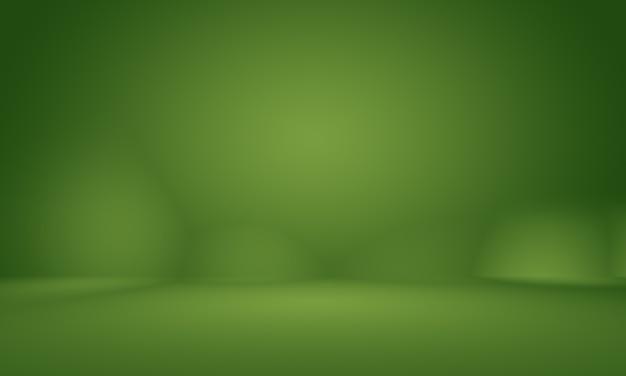 Borrão abstrato vazio gradiente verde studio bem usar como plano de fundo, modelo de site, quadro, relatório de negócios.