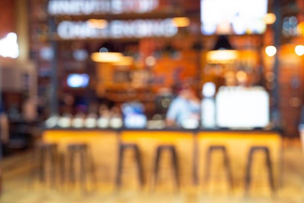 Borrão de pessoas no café, restaurante