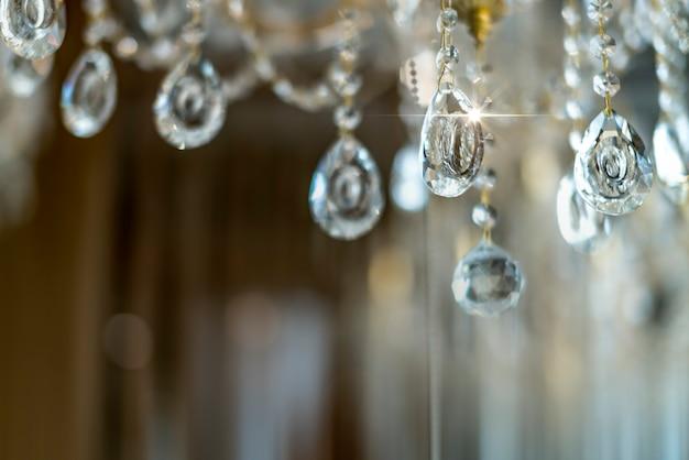 Borrão e desfocar o lustre de cristal brilhante brilho abstrato