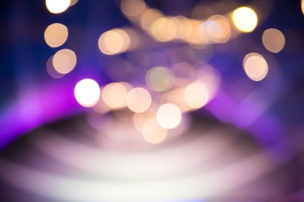 Borrão luzes de bokeh no palco, imagem abstrata de iluminação de concerto
