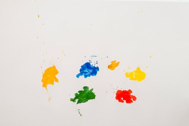 Borrões de cores brilhantes
