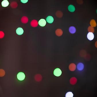 Borrões de muitas luzes coloridas