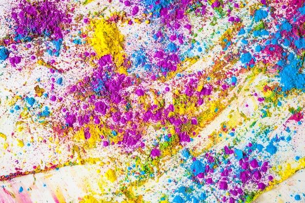 Borrões de violeta, azul e amarelo brilhante cores secas