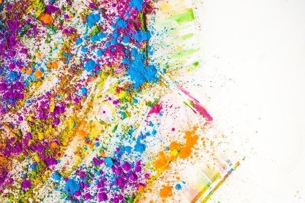 Borrões e pilhas de diferentes cores secas brilhantes