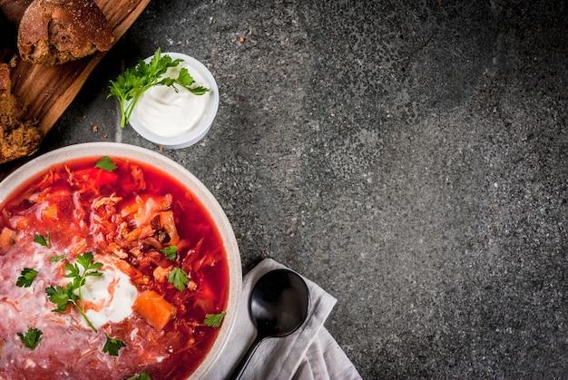 Borscht de sopa de legumes outono