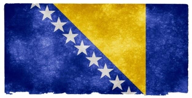Bósnia e herzegovina grunge bandeira