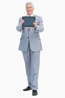 Boss que mostra uma tela de toque pad