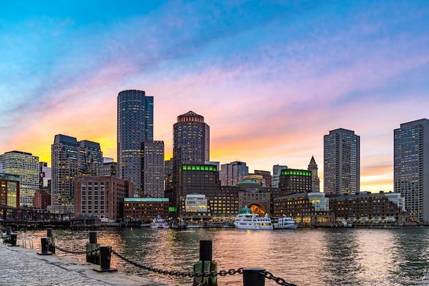 Boston downtont noite