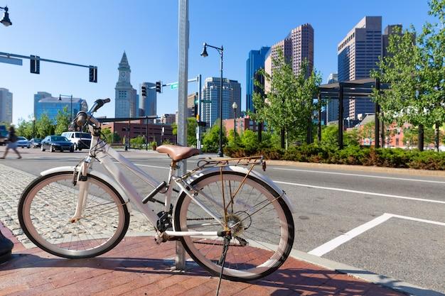 Boston north end park e massachusetts slkyline