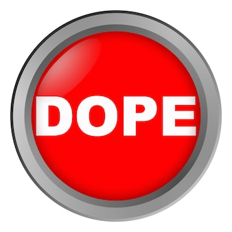 Botão com droga de inscrição
