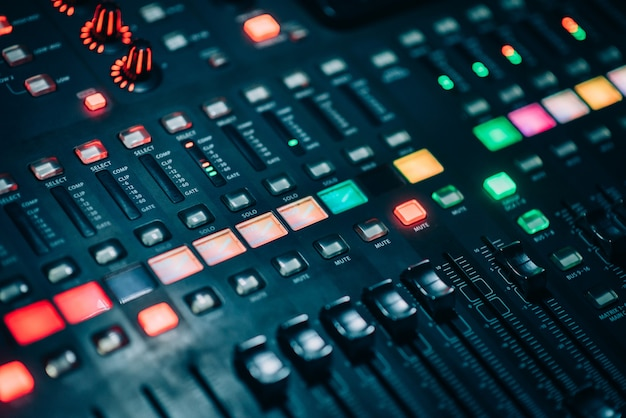 Botão de ajuste com potência do mixer