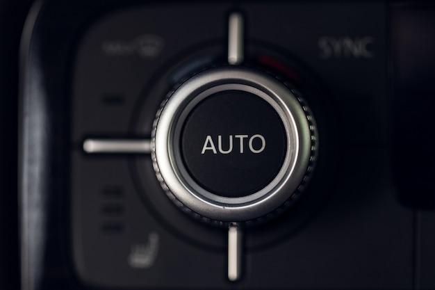 Botão de controle de clima do carro