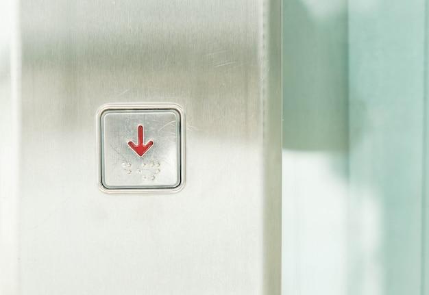 Botão de elevador recusado