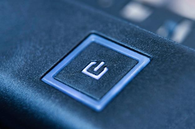 Botão de fundo de tecnologia