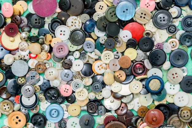 Botão de superfície ainda vida, costura e artesanato.