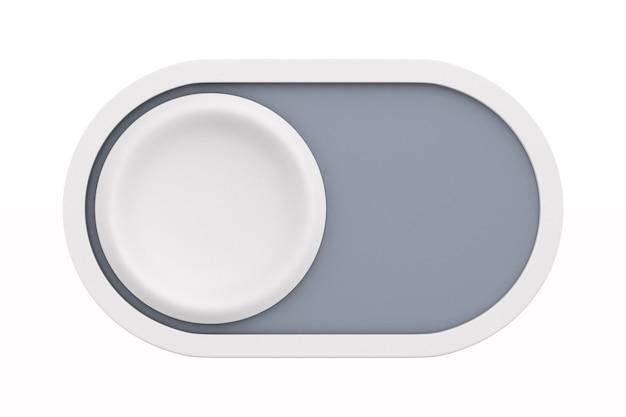 Botão em fundo branco. ilustração 3d isolada