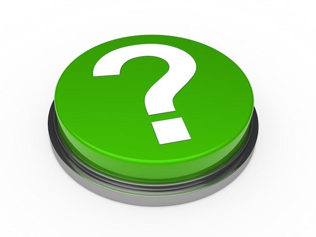 Botão verde com um ponto de interrogação