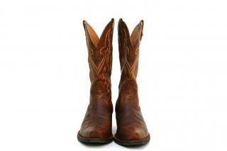 Botas de cowboy, o cânhamo, o pé