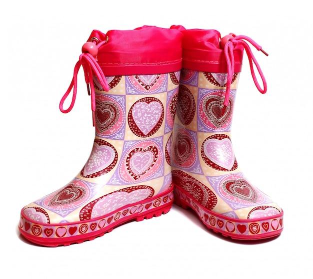 Botas de joelho de borracha para crianças
