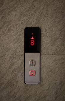 Botões de controle do elevador