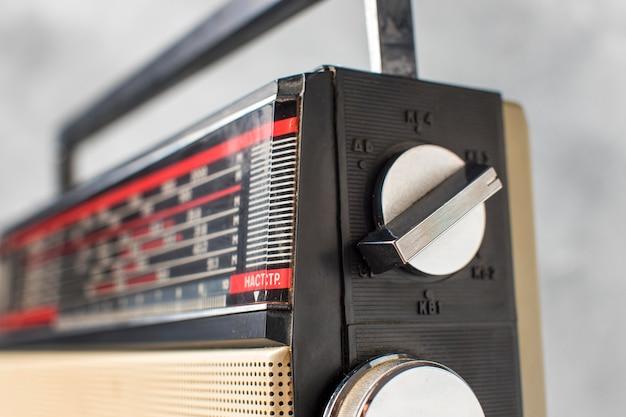 Botões de opção vintage para close-up