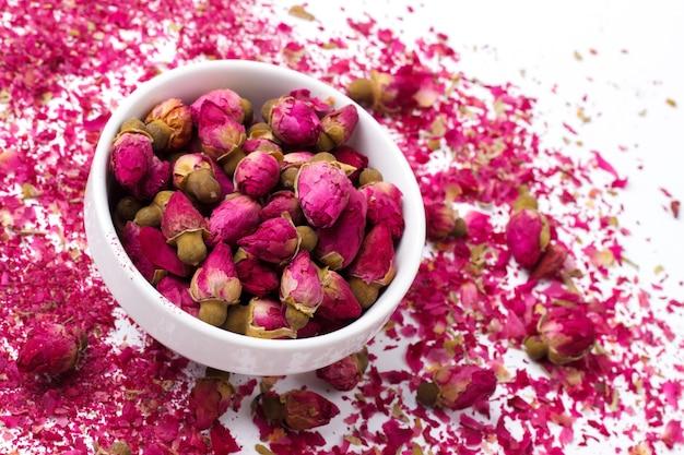 Botões de rosa rosa