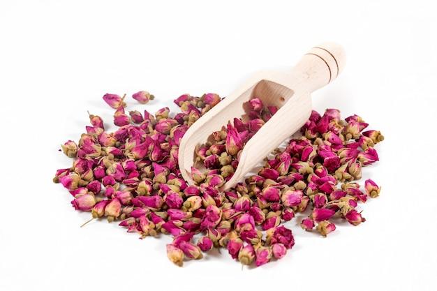 Botões de rosa secos