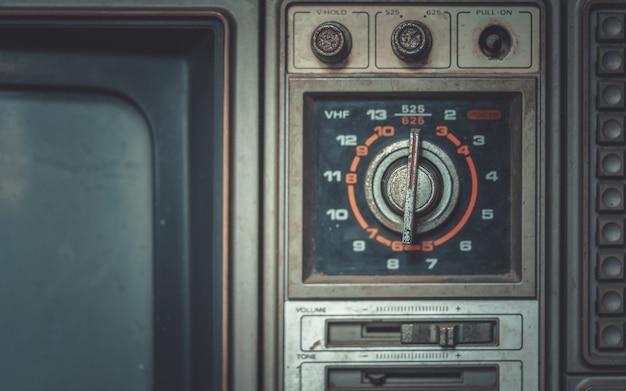 Botões de televisão antigos