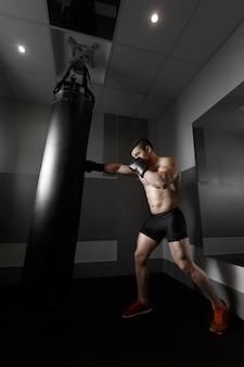 Boxe homem praticando