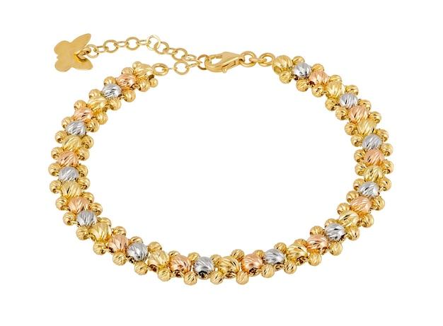 Bracelete de ouro da senhora. presente de mulher joias elegantes.