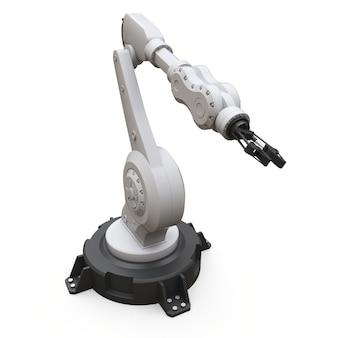 Braço robótico para qualquer trabalho em uma fábrica ou produção. equipamento mecatrônico para tarefas complexas