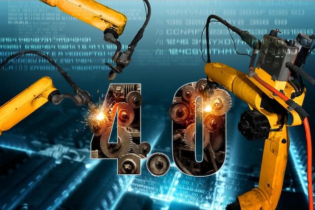 Braços robóticos inteligentes da indústria para tecnologia de produção de fábrica digital
