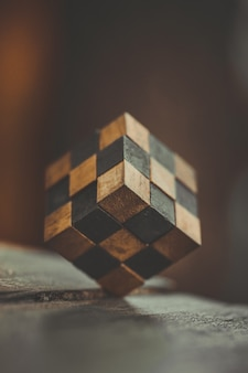 Brain training teaser de madeira puzzle game