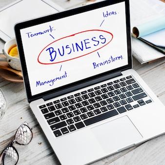 Brainstorm de negócios, planejamento de ideias de trabalho, conceito