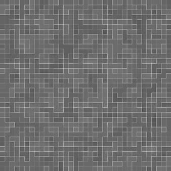 Branco e cinza, o papel de parede de alta resolução da parede de ladrilhos ou tijolo sem costura e textura de fundo interior.