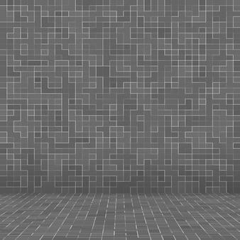 Branco e cinza o papel de parede de alta resolução de parede de azulejo