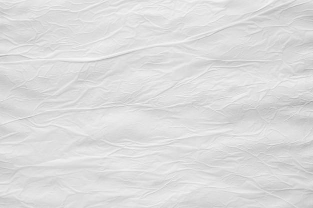 Branco em branco amassado amassado e rasgado papel rasgado póster textura fundo de superfície